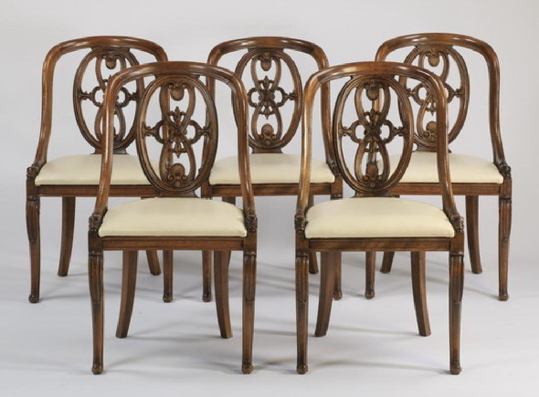 (5) Open back side chairs, early 20th c.