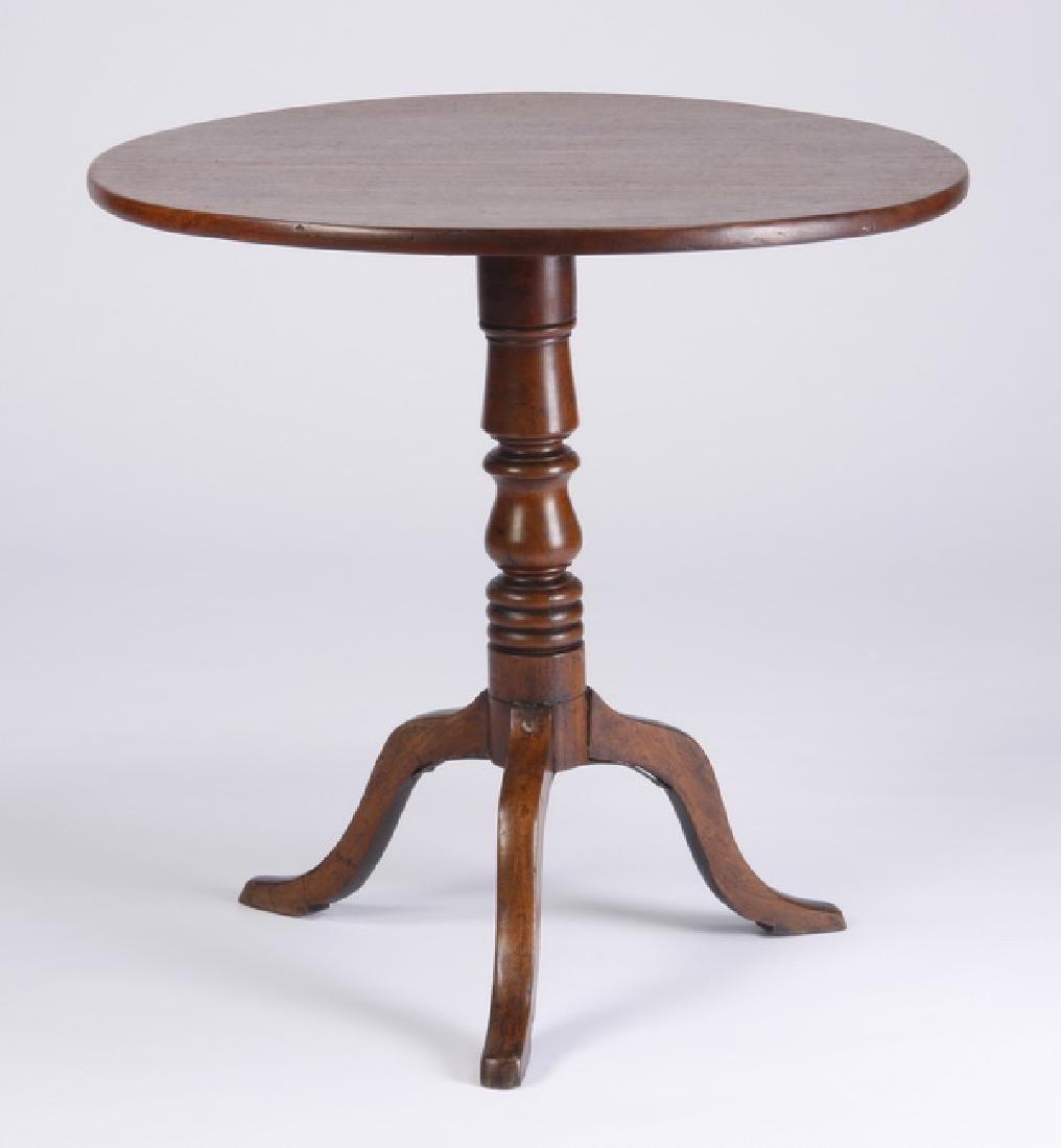 Late 19th c. mahogany tilt top table