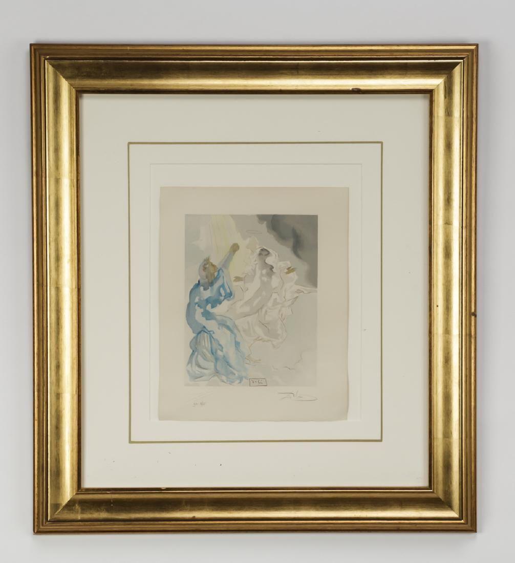 Salvador Dali signed engraving, 'The Divine Comedy'