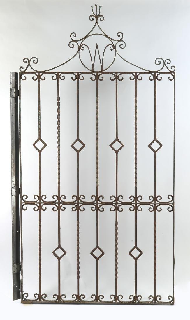 Early 20th c. wrought iron garden gate