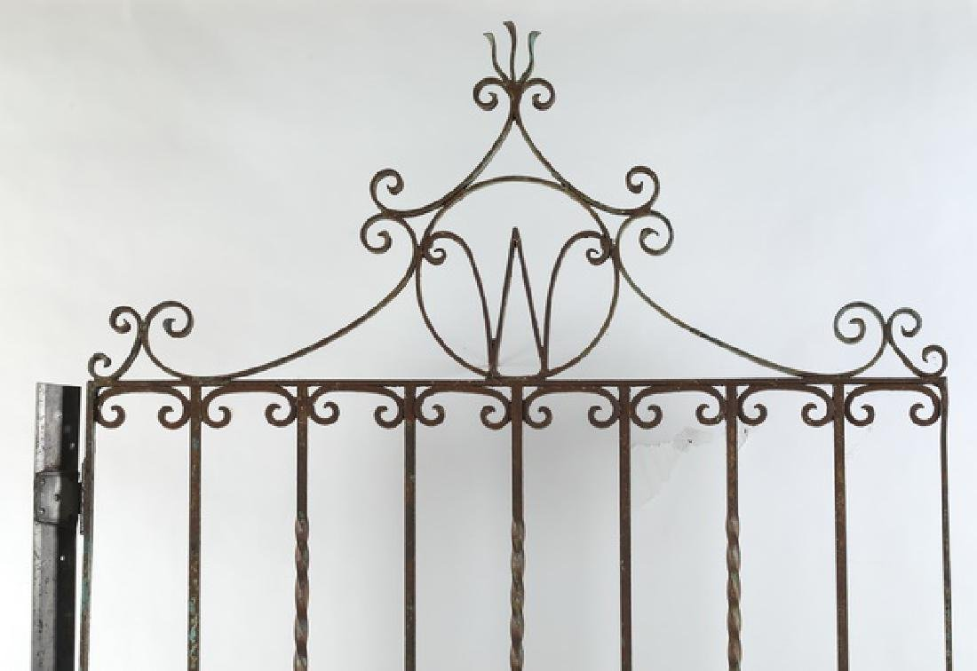Early 20th c. wrought iron garden gate - 2