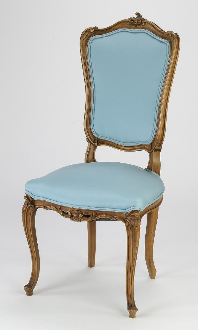 (6) 19th c. Rococo Revival walnut dining chairs - 2