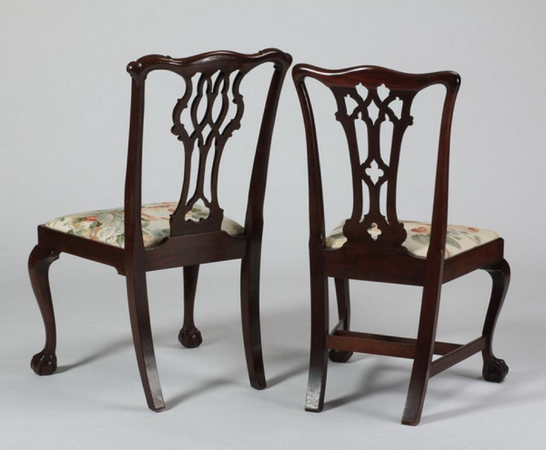 (2) Chippendale style mahogany chairs, marked - 2