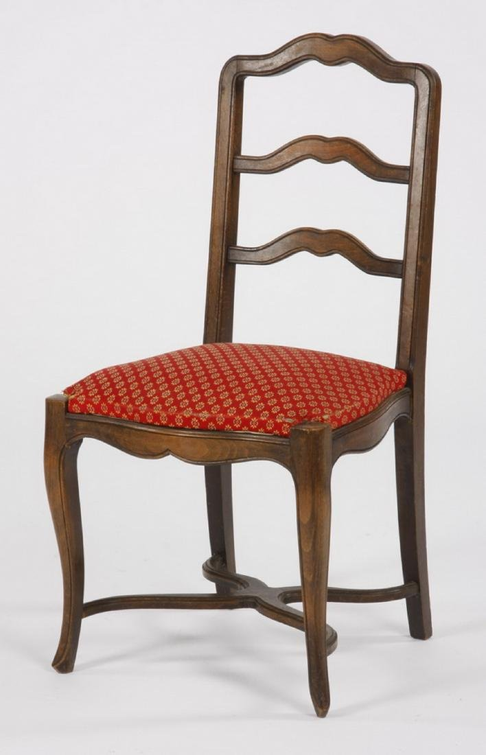 (6) French walnut ladder-back chairs - 2