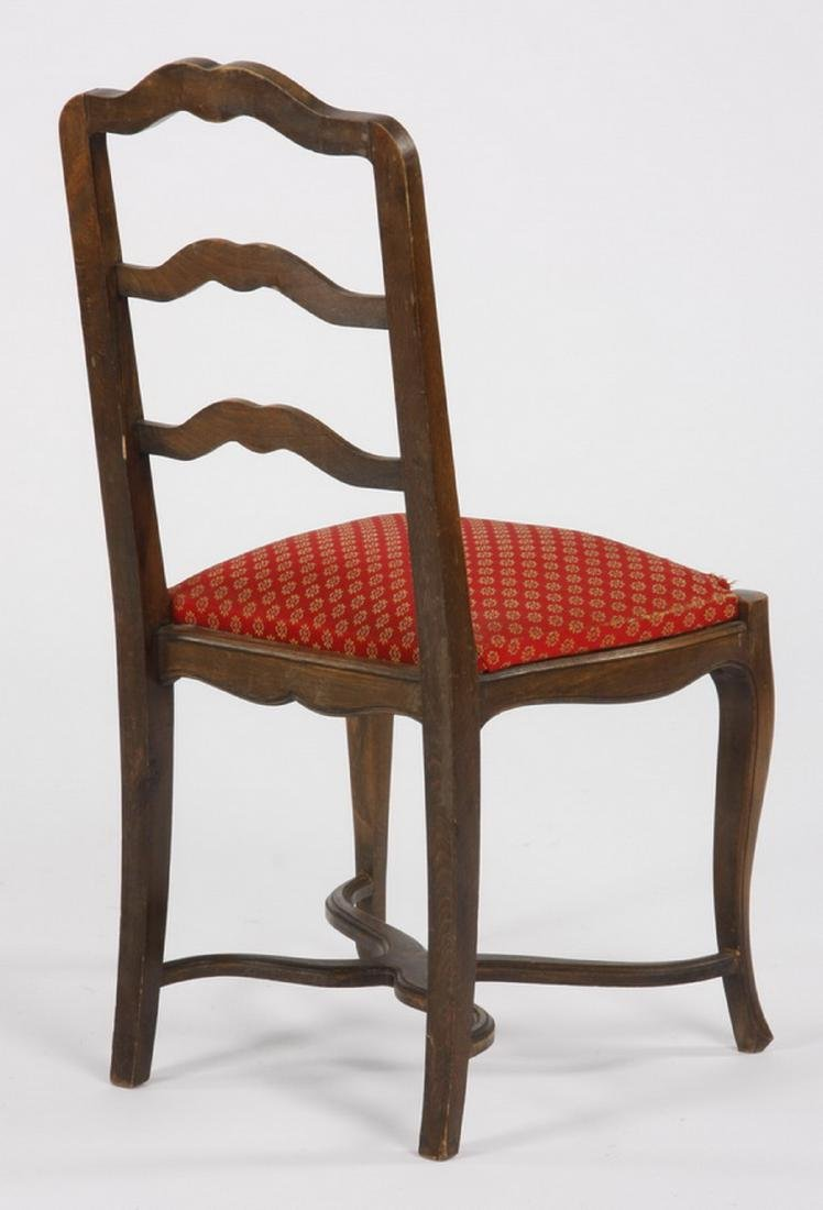 (6) French walnut ladder-back chairs - 3
