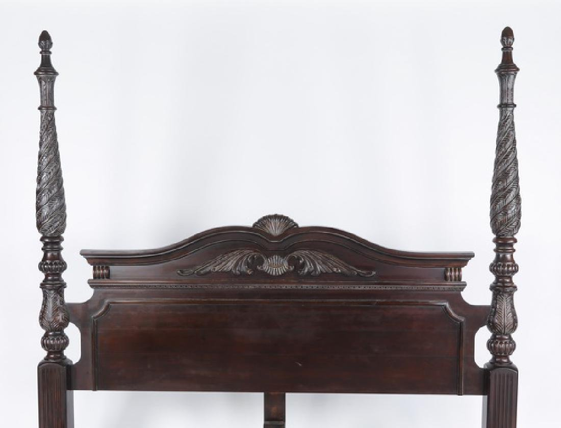 King size mahogany Federal style bedstead - 2