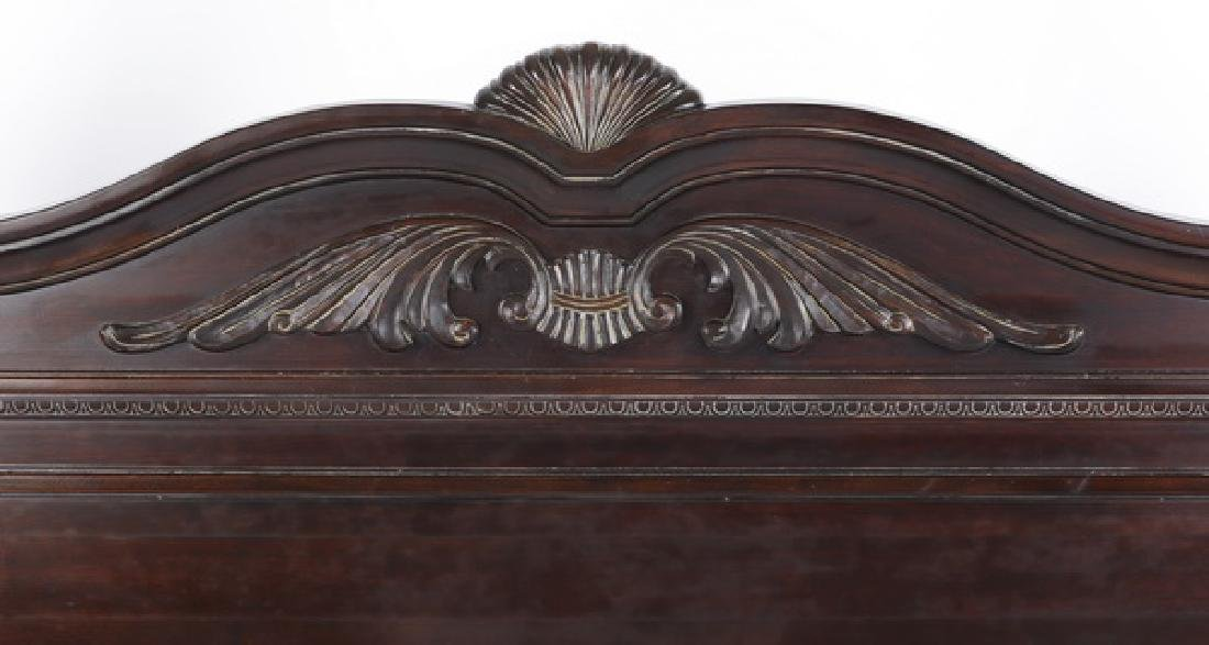 King size mahogany Federal style bedstead - 3