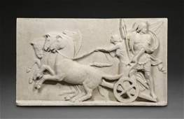 """Plaque of Alexander the Great and goddess Nike, 45""""l"""