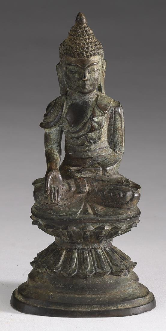 Burmese bronze Buddha of charity