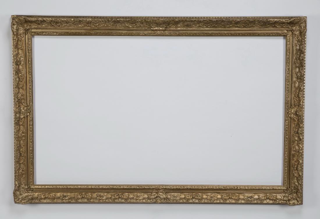 "Gilt wood and gesso frame, 37"" x 57"""