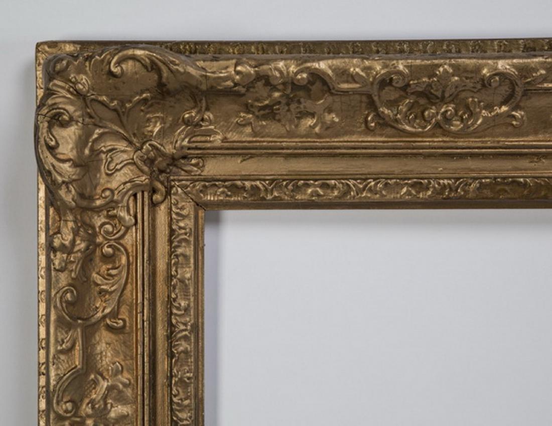 "Gilt wood and gesso frame, 37"" x 57"" - 2"