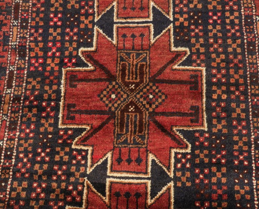 Hand knotted Persian Meshkin wool rug - 2