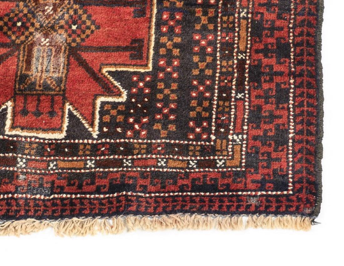 Hand knotted Persian Meshkin wool rug - 3