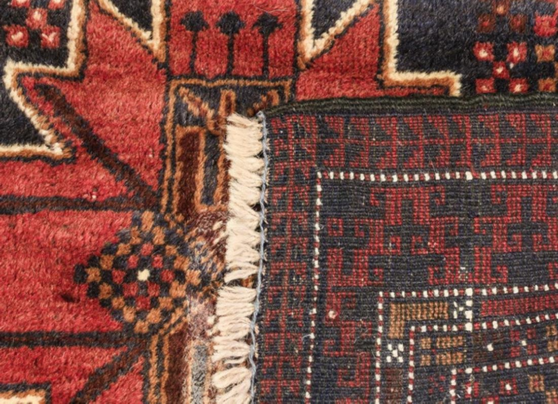 Hand knotted Persian Meshkin wool rug - 4