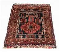 Hand knotted Turkmen wool prayer rug