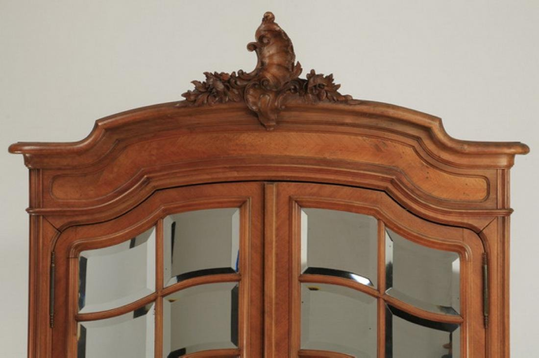 19th c. French walnut armoire w/ mirrored doors - 3