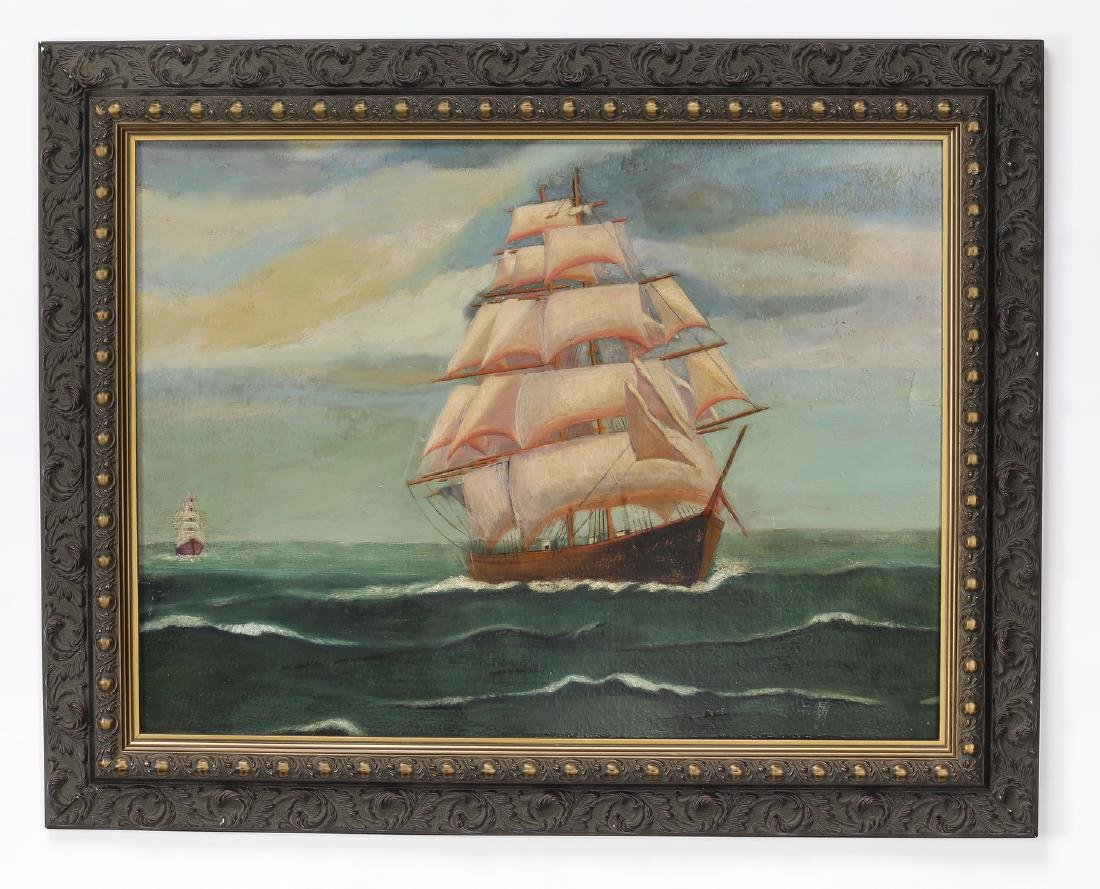 American O/board double-sided maritime/still life
