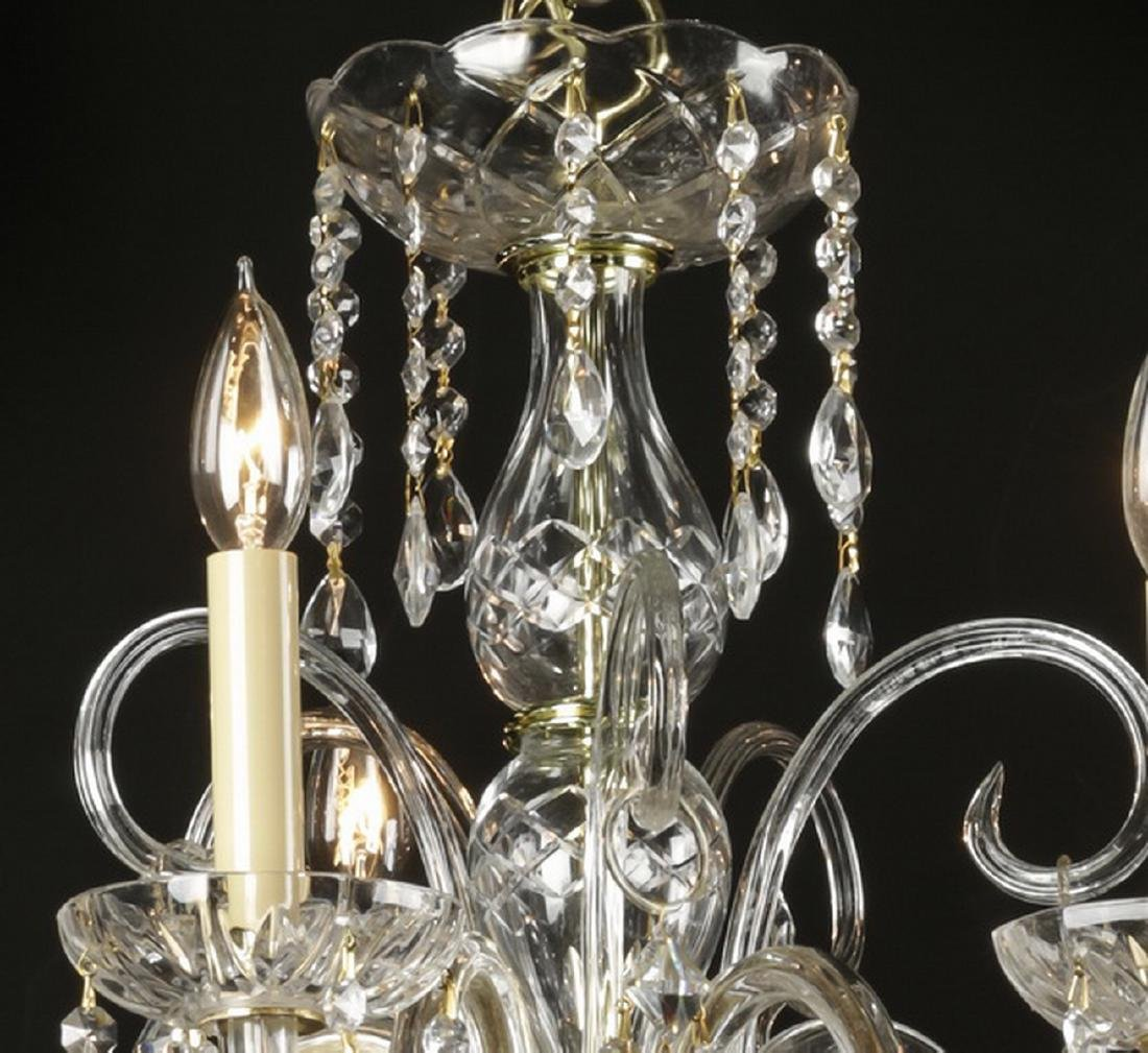"Continental 5-arm crystal chandelier, 20""h - 2"