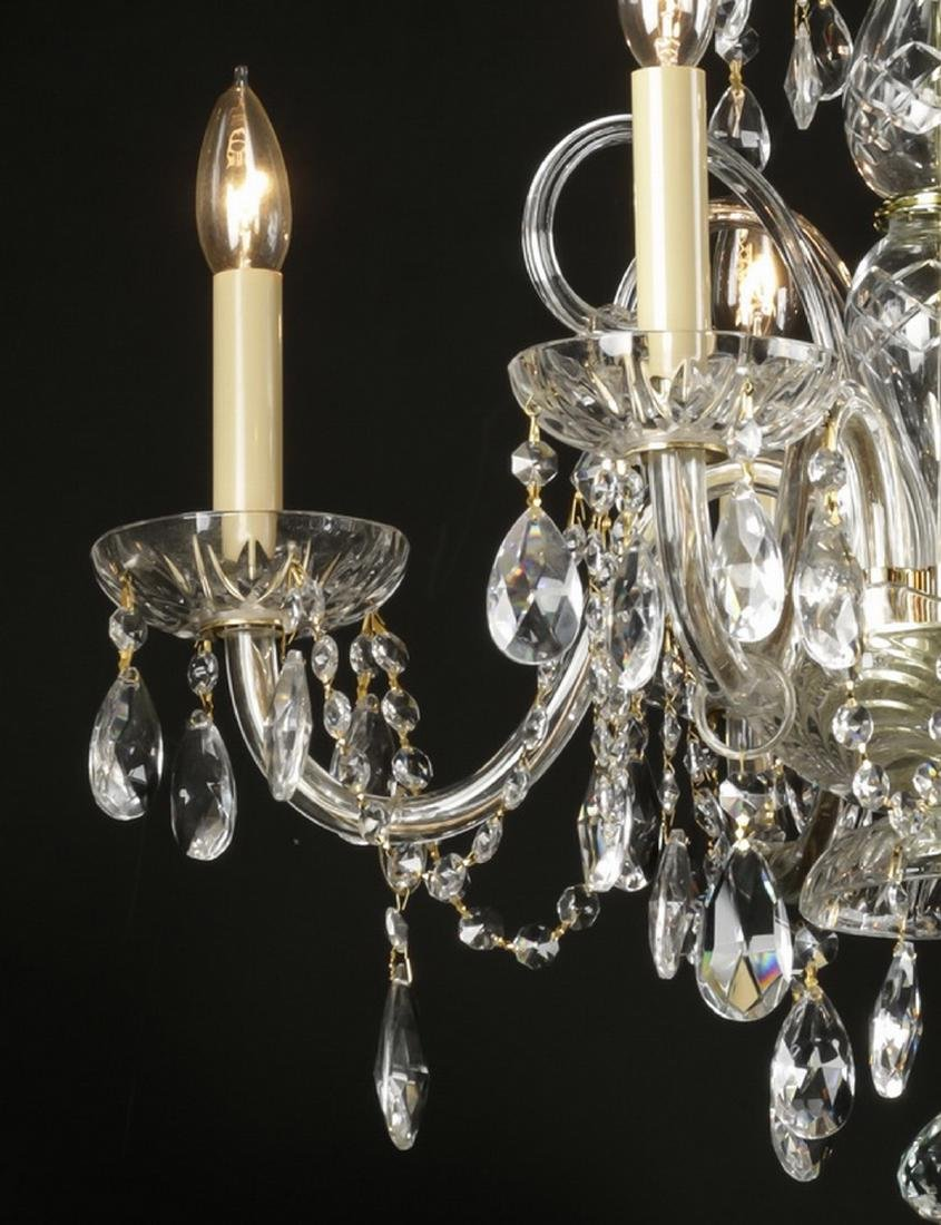 """Continental 5-arm crystal chandelier, 20""""h - 3"""