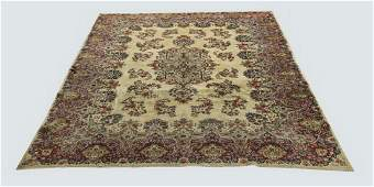 Early 20th c hand knotted wool Persian Kerman rug