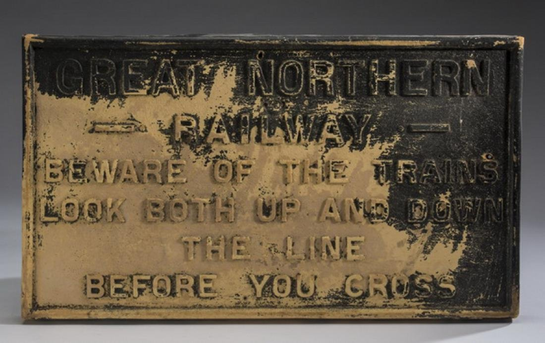 """Great Northern Railway reproduction sign, 22""""l"""