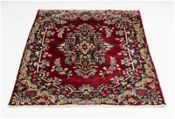 Hand knotted Persian Kerman wool rug