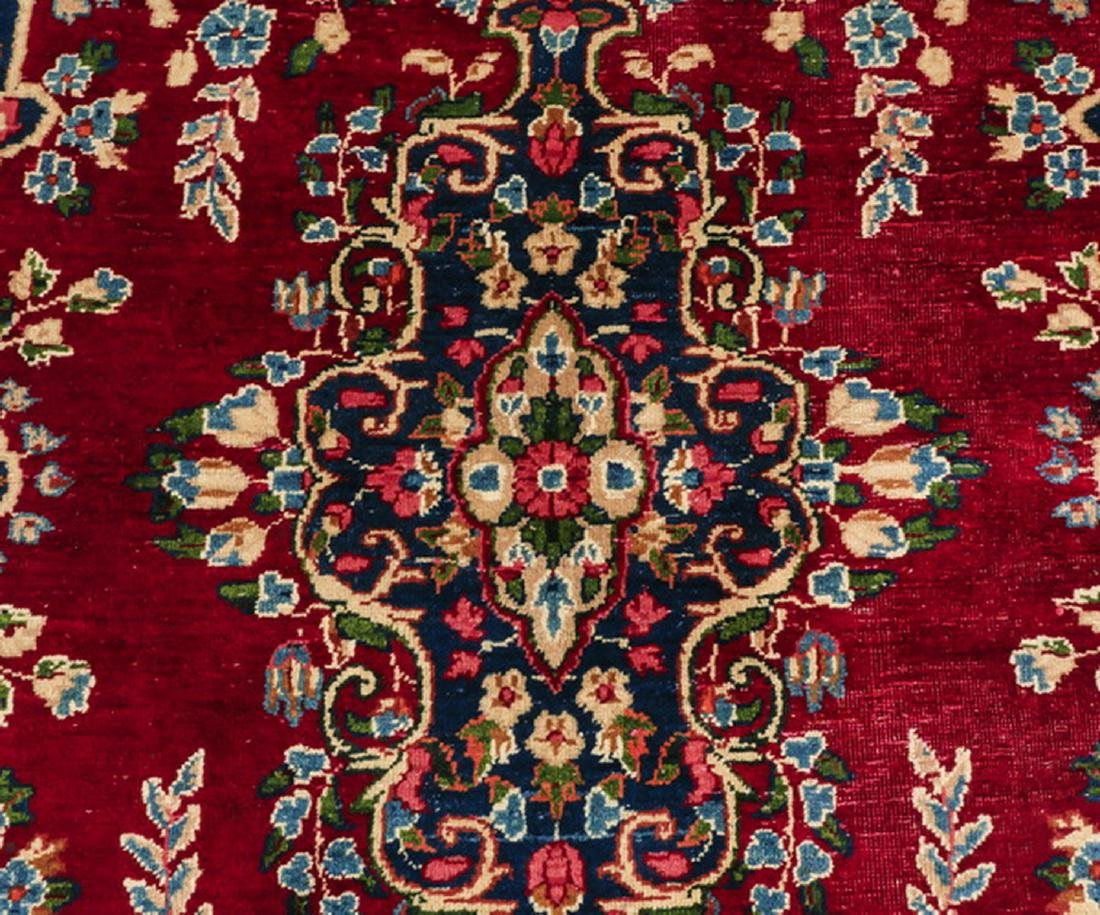 Hand knotted Persian Kerman wool rug - 2