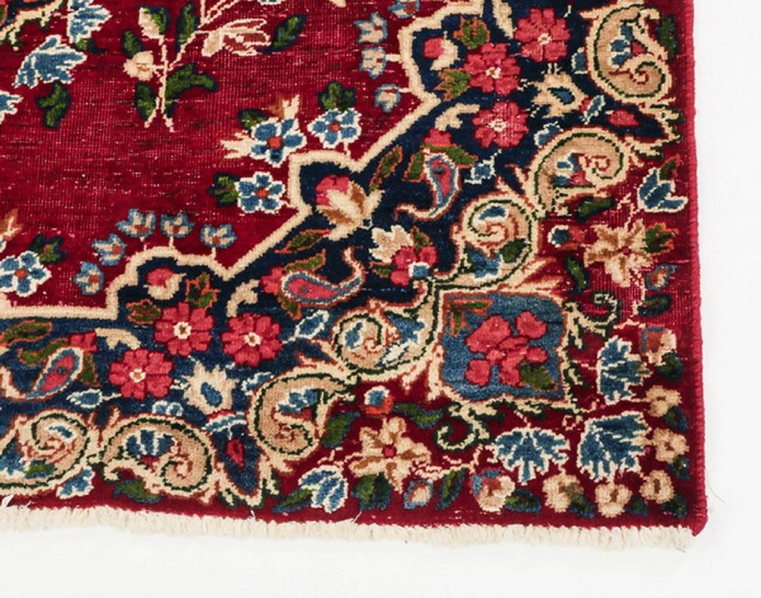 Hand knotted Persian Kerman wool rug - 3