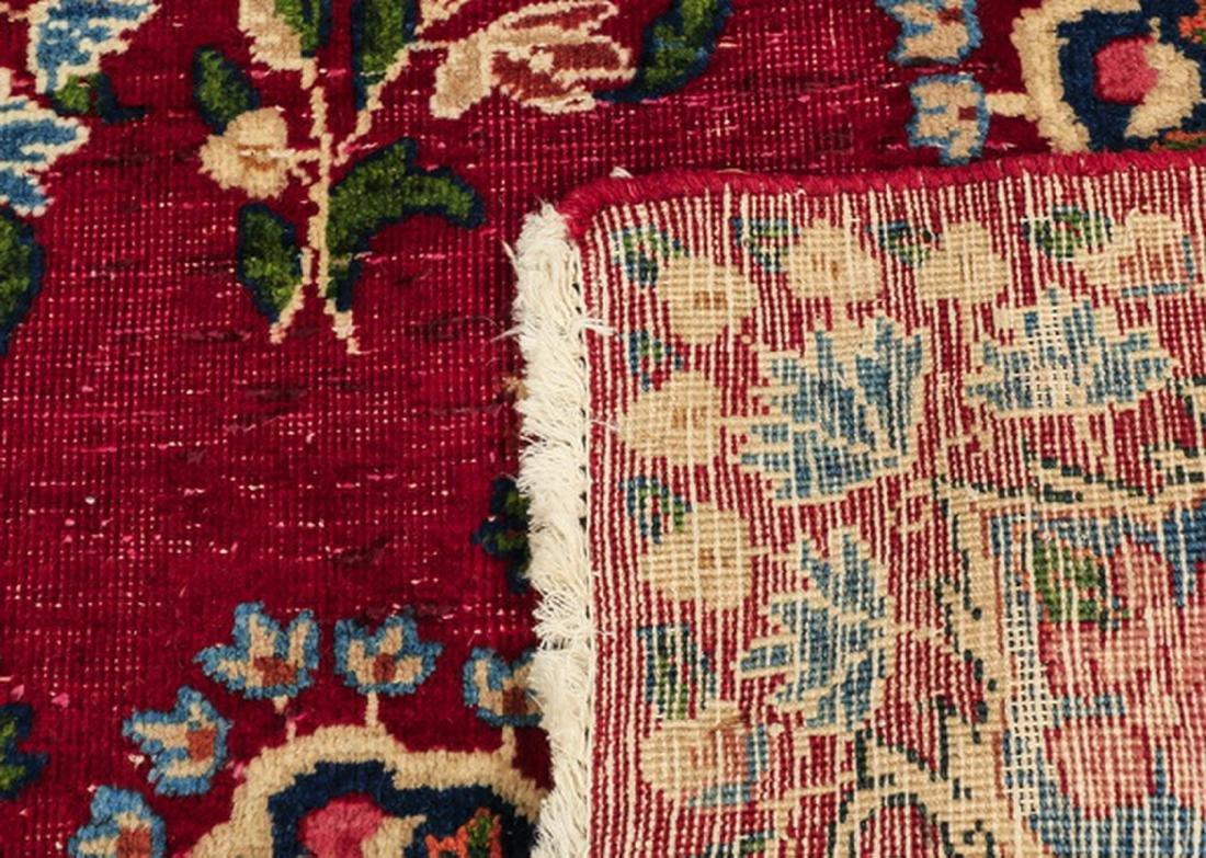 Hand knotted Persian Kerman wool rug - 4