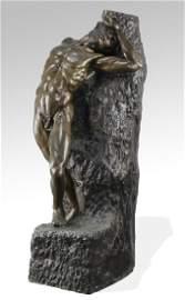 Enzo Plazzotta monumental bronze sculpture 'Adam'