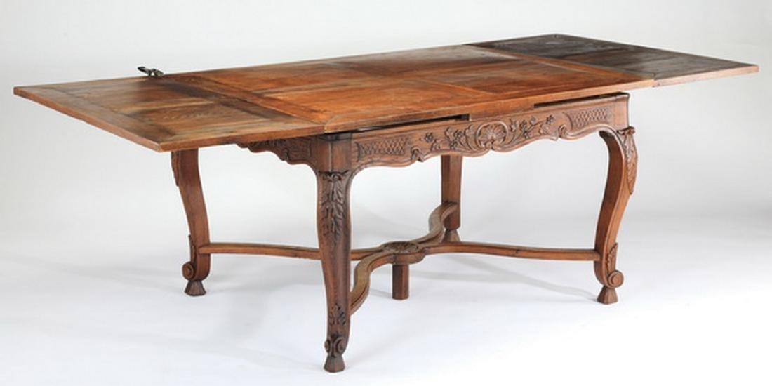 19th c. French Provincial oak draw leaf table - 3