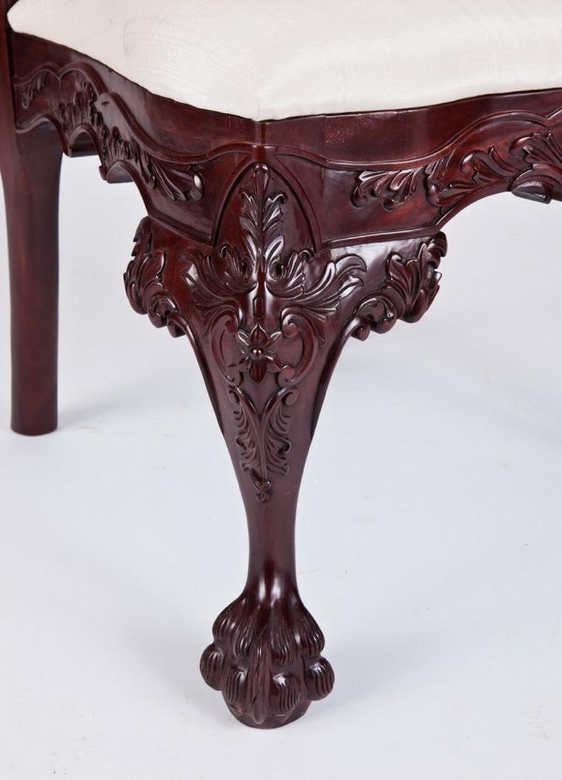 (4) Carved Chippendale style mahogany side chairs - 4