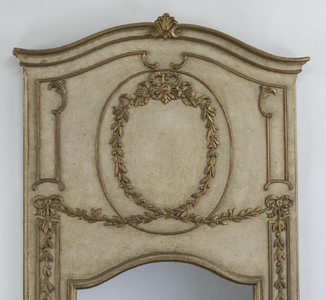 Neoclassical style paint decorated,parcel gilt mirror - 2