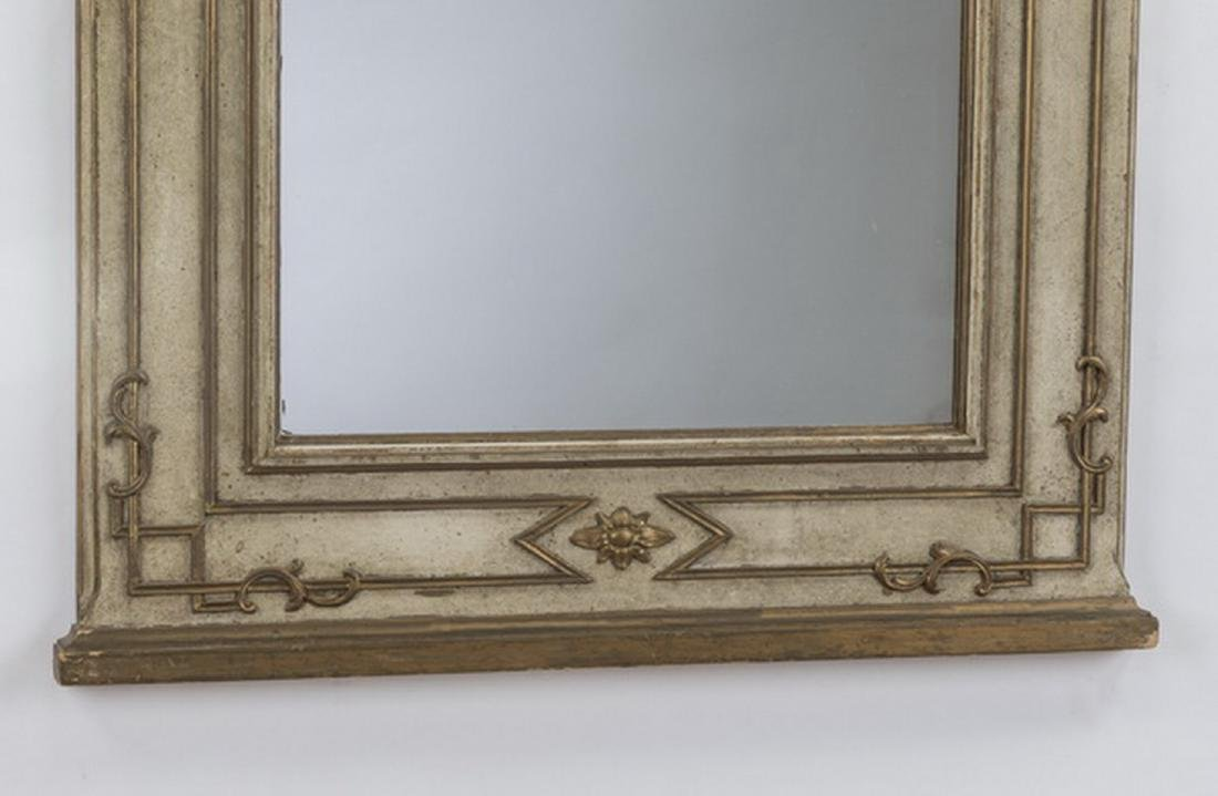 Neoclassical style paint decorated,parcel gilt mirror - 3