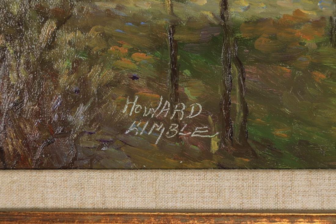 Howard Kimble signed Impressionistic landscape - 3