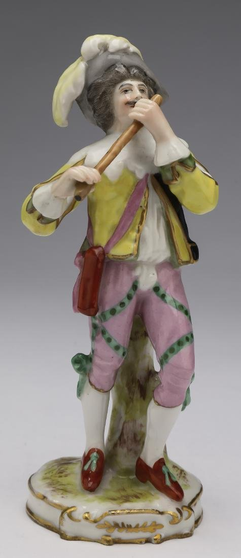 Early 20th c. French porcelain figure of a minstral