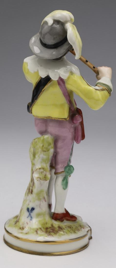 Early 20th c. French porcelain figure of a minstral - 2
