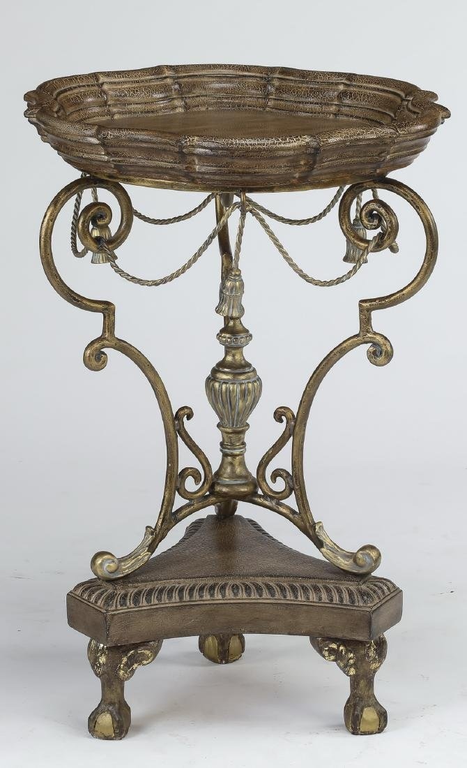 Neoclassical style silvered side table