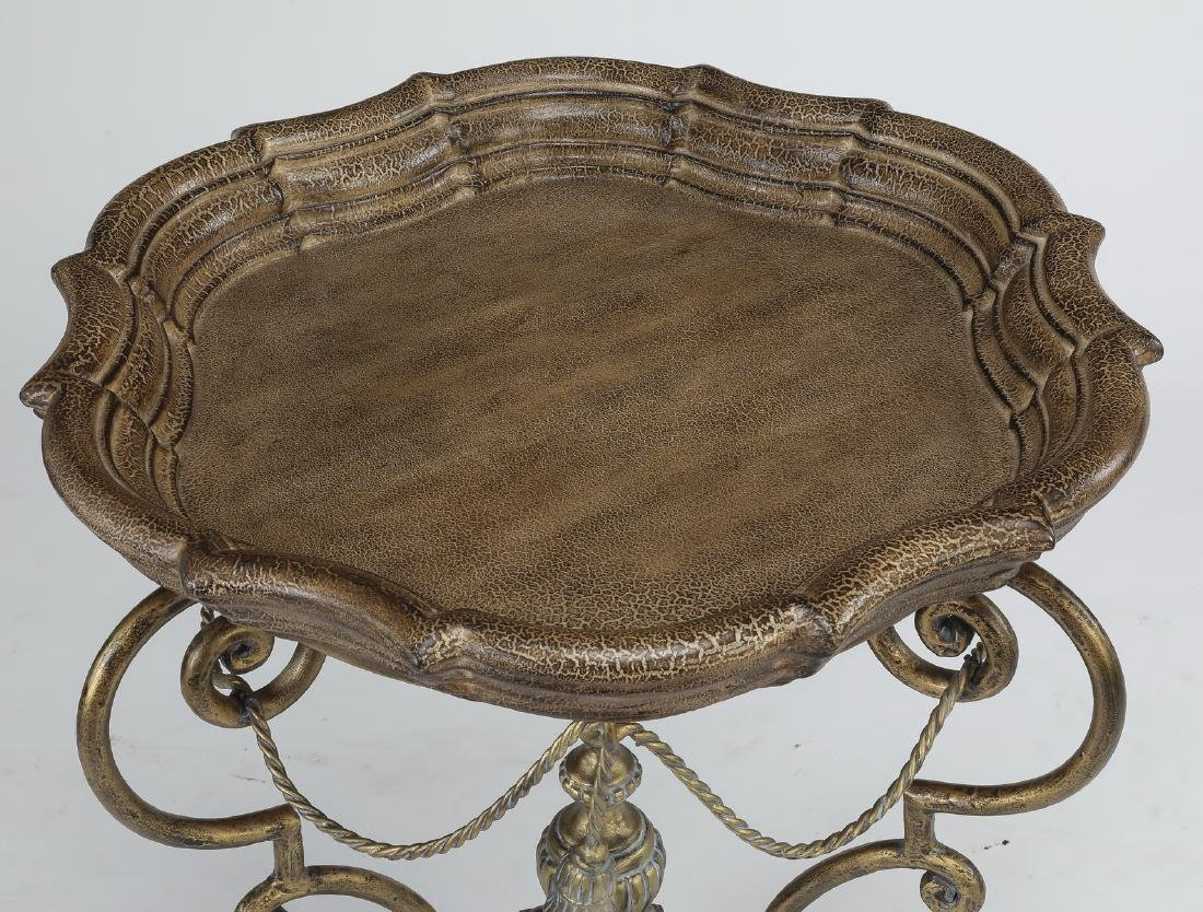 Neoclassical style silvered side table - 2