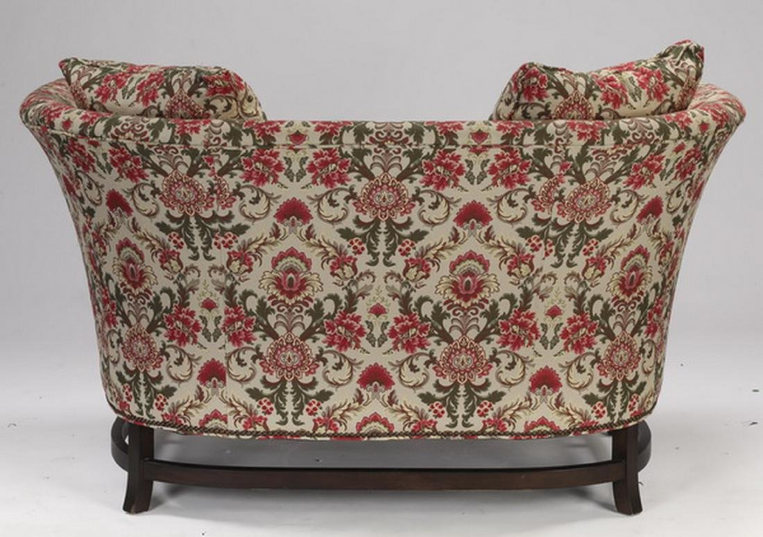 Floral tapestry upholstered settee & ottoman - 2