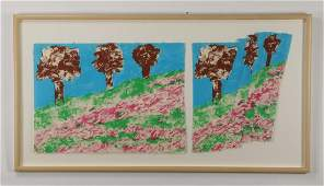 Contemporary signed  numbered lithograph 66w