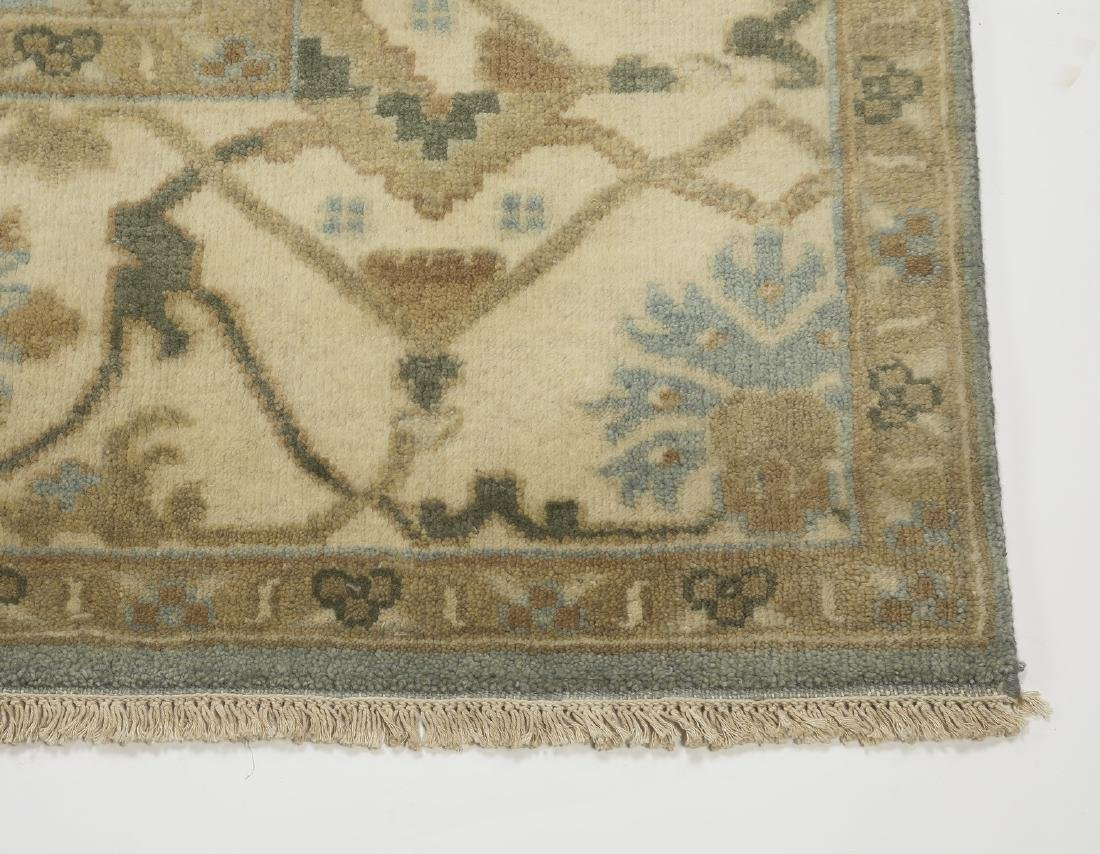 Hand knotted wool Indo-Oushak carpet, 10 x 8 - 3