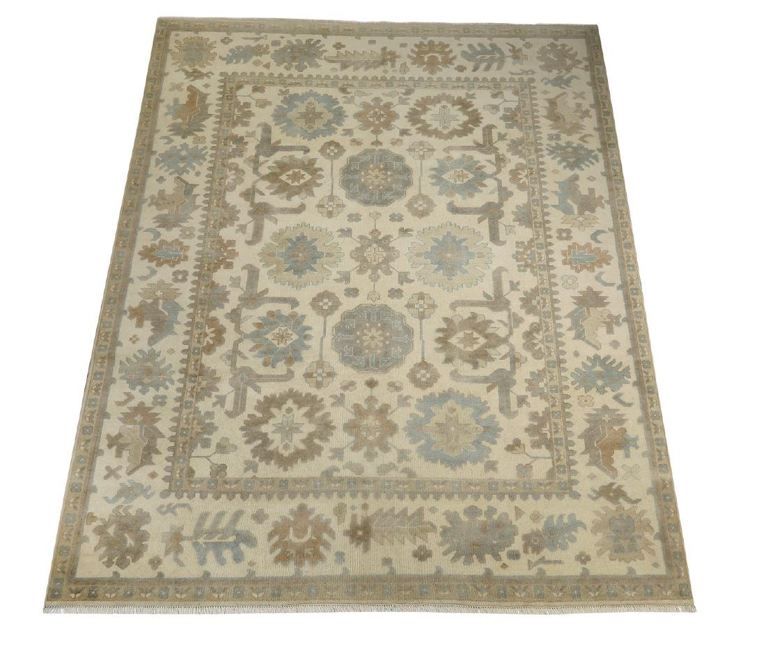 Hand knotted wool Indo-Oushak carpet, 12 x 9