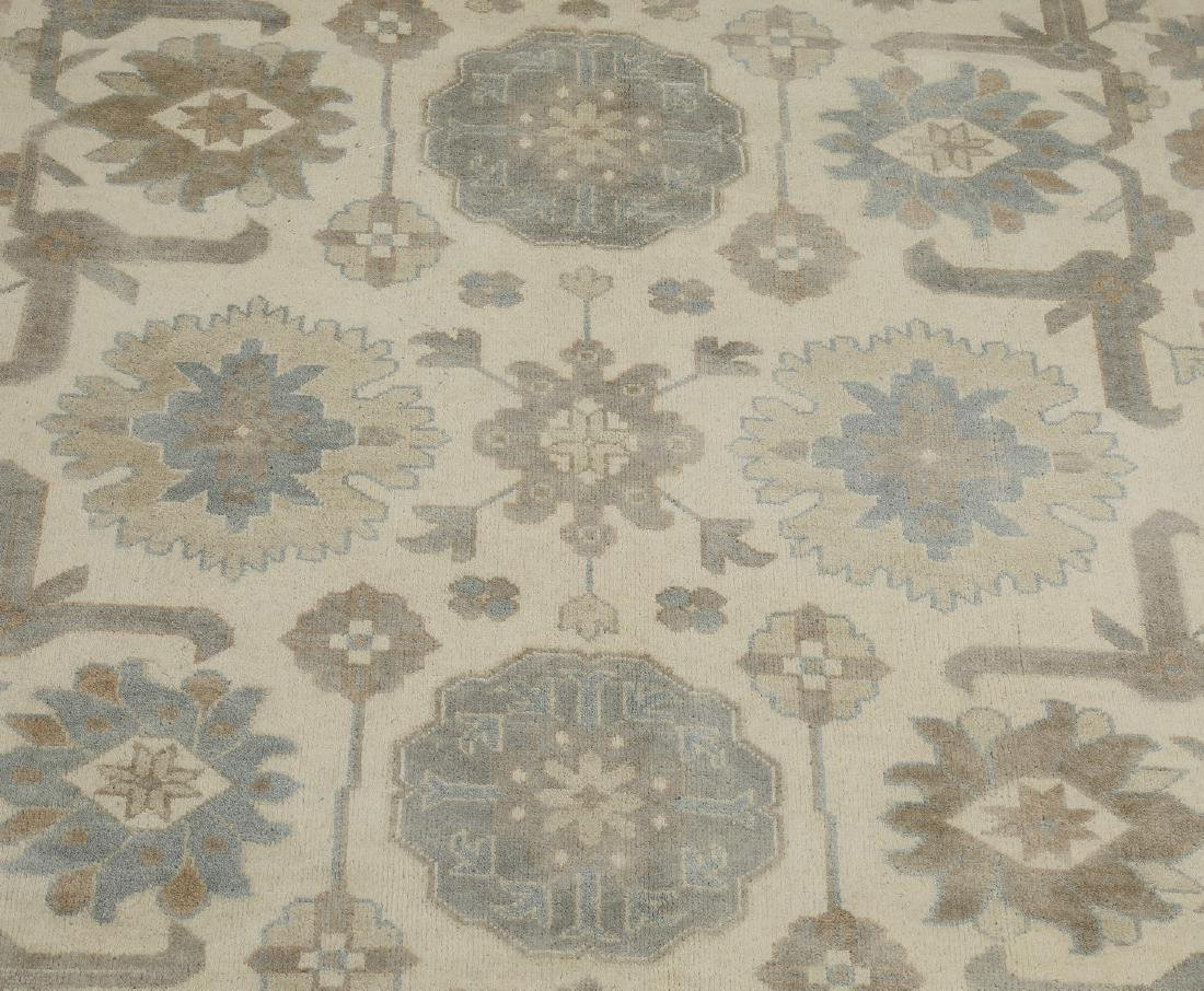 Hand knotted wool Indo-Oushak carpet, 12 x 9 - 2