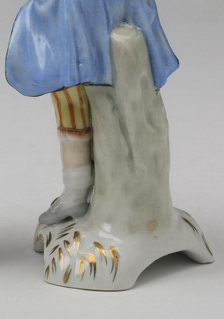 19th c.. Capodimonte figure of a traveler - 6