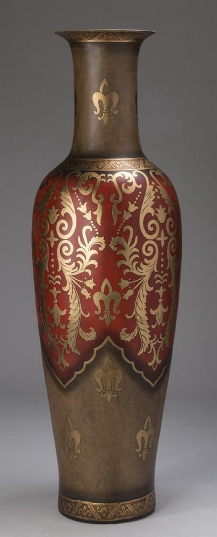 "Monumental decorative floor vase, 72""h - 2"
