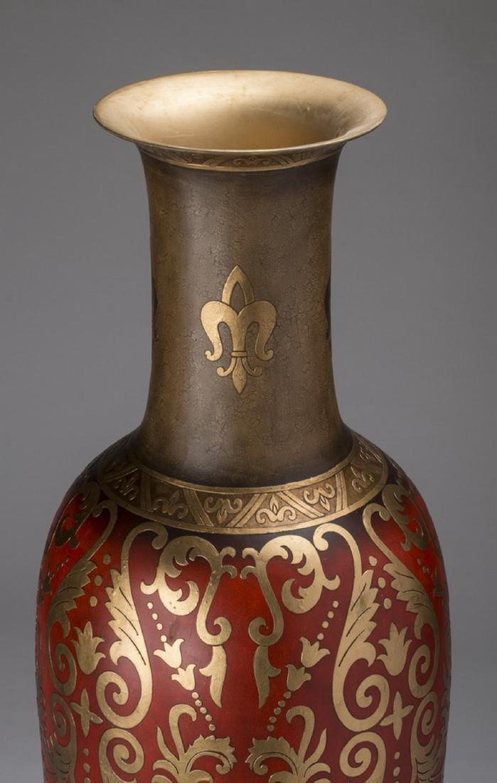 "Monumental decorative floor vase, 72""h - 3"