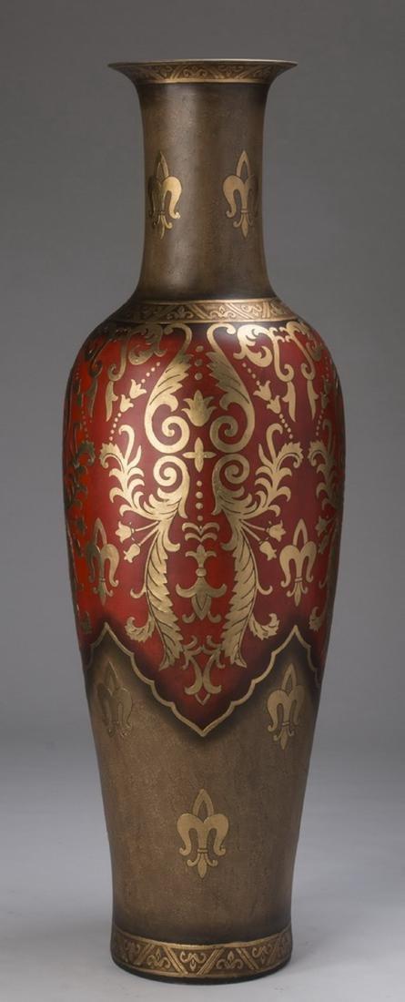 "Monumental decorative floor vase, 72""h - 4"