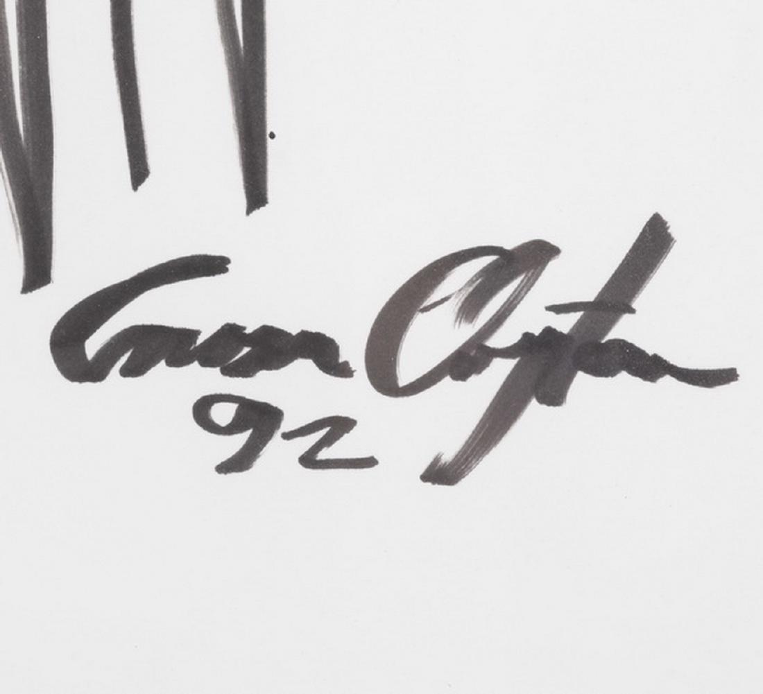Creason Clayton signed work on paper 'Buckhead Bunch' - 2