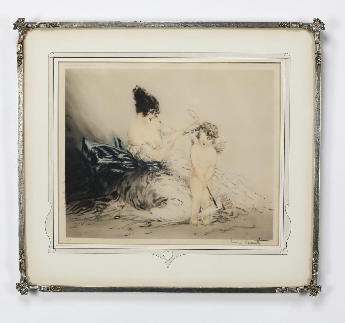 Louis Icart signed & numbered etching 'Le bandeau'